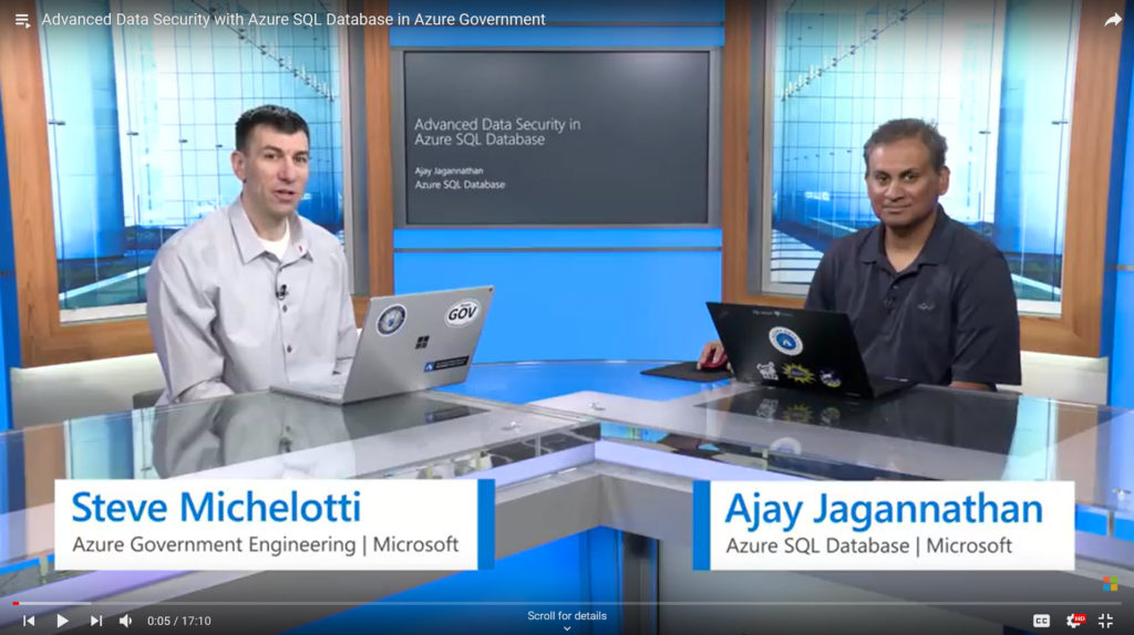 Advanced Data Security with Azure SQL Database in Azure Government