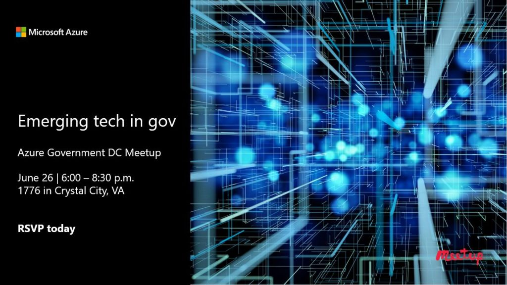 Join us! Emerging tech in gov – June 26