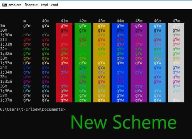 Updating the Windows Console Colors