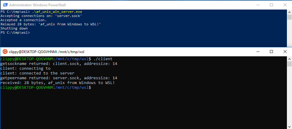 Windows/WSL Interop with AF_UNIX