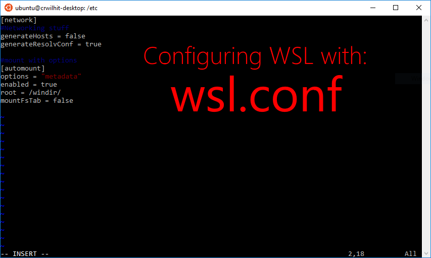 Automatically Configuring WSL