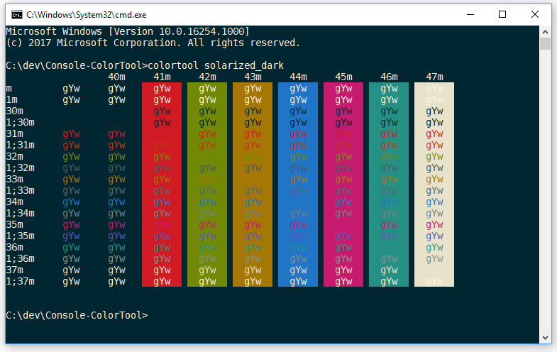 Introducing the Windows Console Colortool