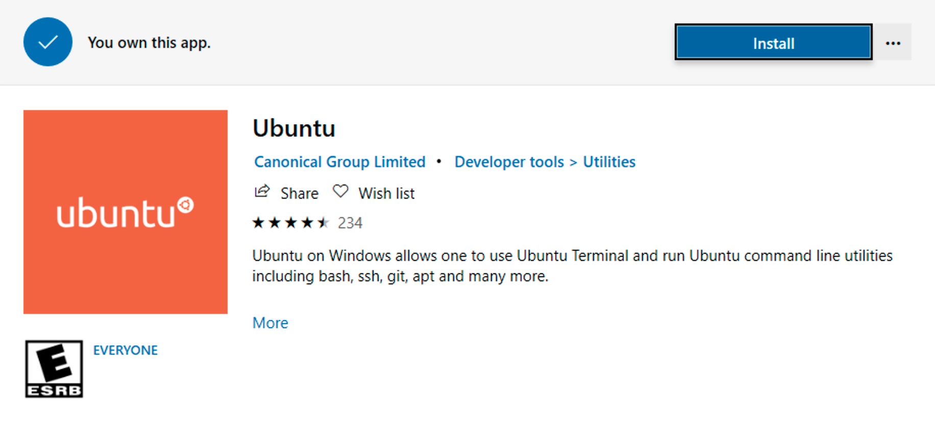 Installing the Ubuntu WSL distro