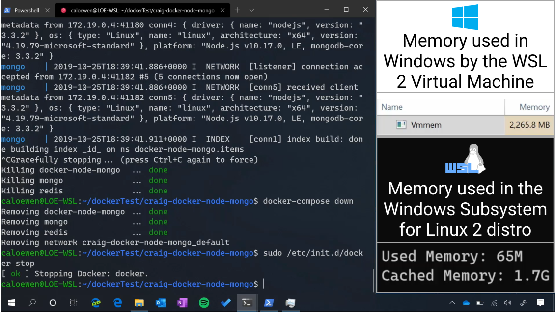 WSL and Terminal screenshot