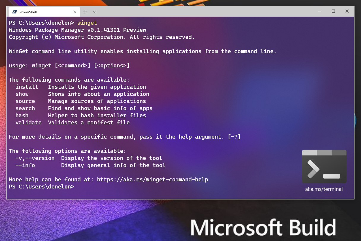 Execute winget in Windows Terminal