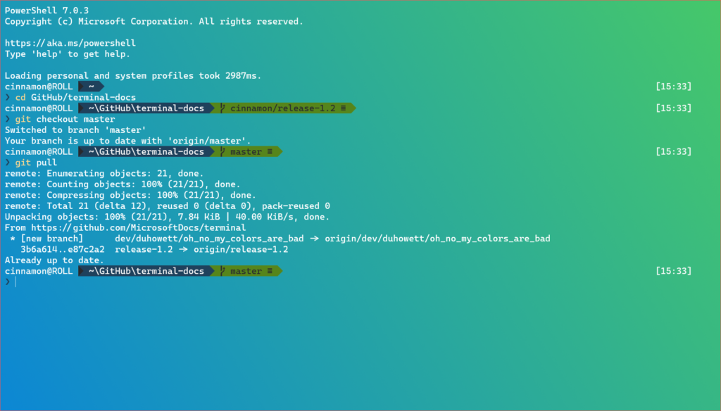Windows Terminal Preview 1.2 Release