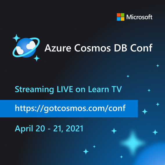 Announcing: Azure Cosmos DB Conf, a free online developer event