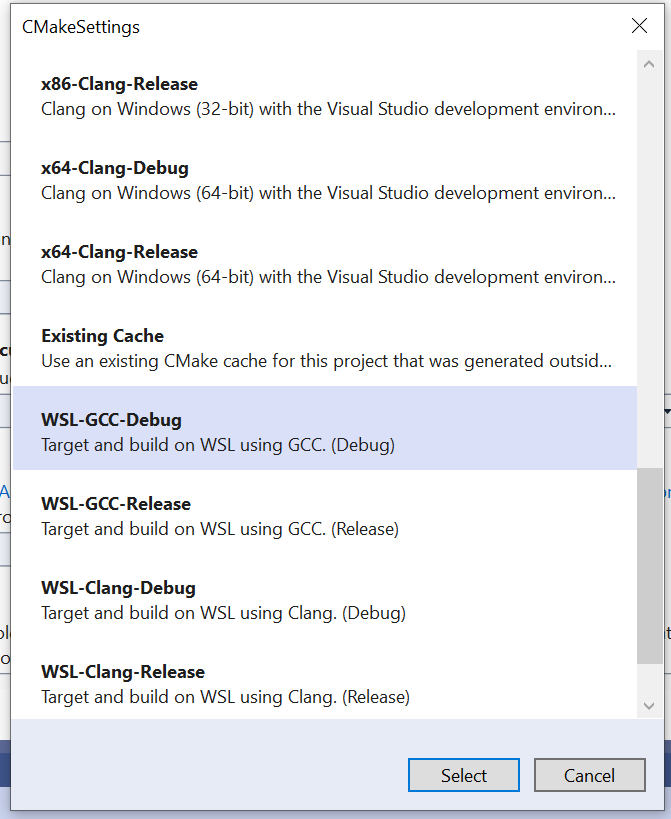 C++ with Visual Studio 2019 and Windows Subsystem for Linux (WSL)