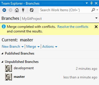 Getting Started with Git in Visual Studio and Team