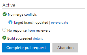 Option to re-evaluate the merge when the target branch is updated