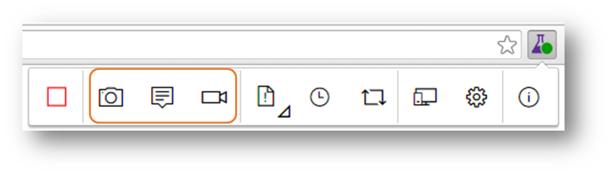 Test & Feedback - Toolbar