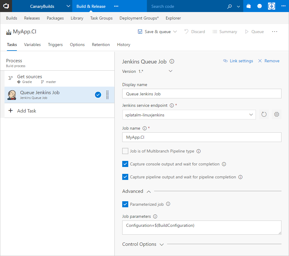 Visual Studio Team Services Integration with Jenkins | Azure