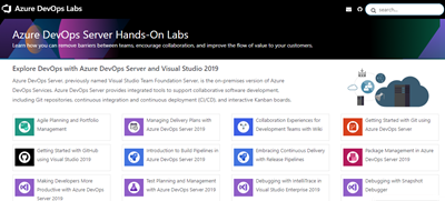 Azure DevOps Labs now includes Azure DevOps Server 2019 VM and labs