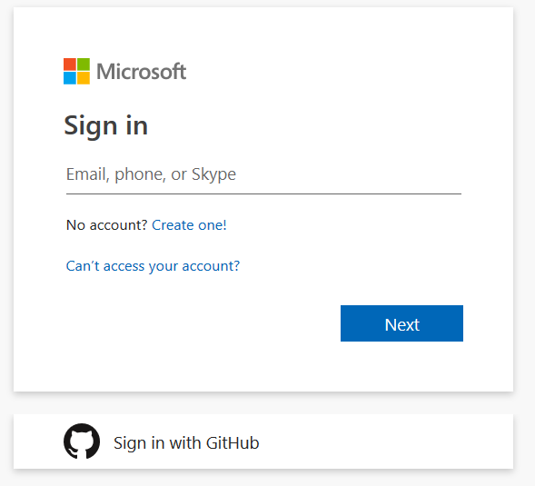 Signing into Azure DevOps using your GitHub credentials