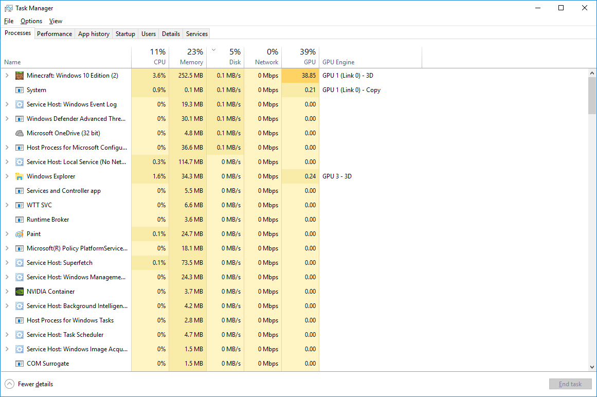 GPUs in the task manager | DirectX Developer Blog