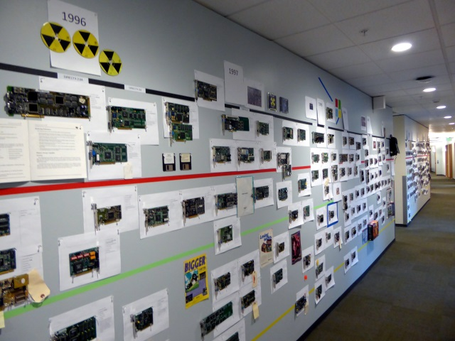 Direct3D team office has a Wall of GPU History
