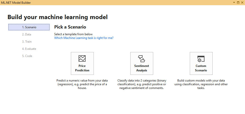 ML.NET Model Builder