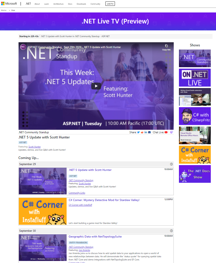 .NET Live Website