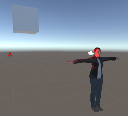 a character in 3D with a single spotlight