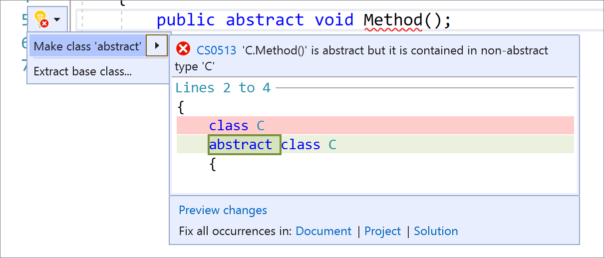 Make class abstract refactoring