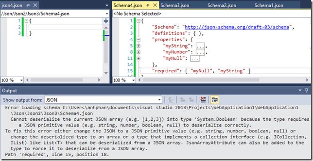 ASP NET Blog | Intellisense for JSON Schema in the JSON Editor