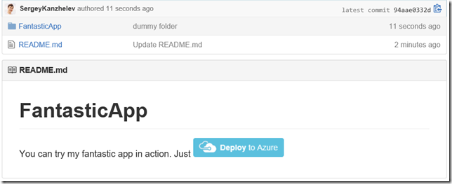 ASP NET Blog | Deploy to Azure from GitHub with Application
