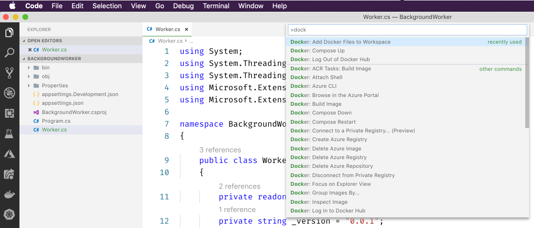 .NET Core Workers in Azure Container Instances