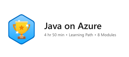 Java on Azure Learning Path