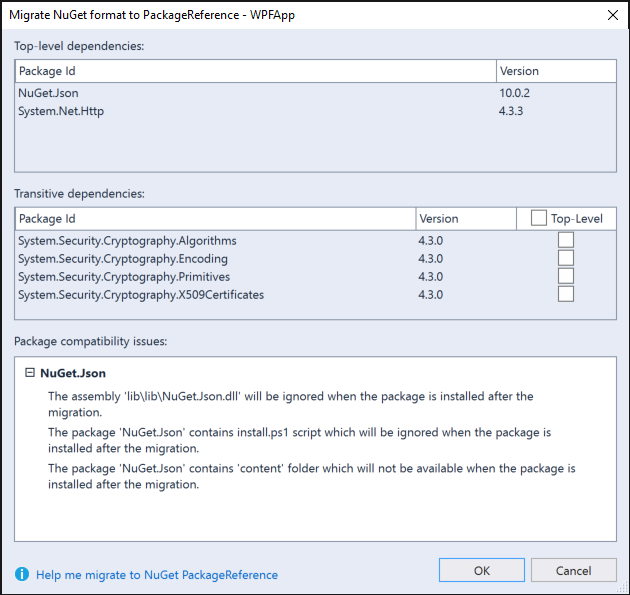 Migrate to PackageReference with 3 clicks | The NuGet Blog