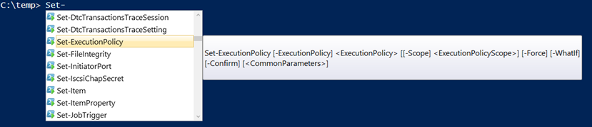 set execution policy