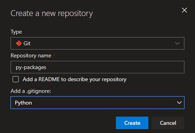 Hosting Python packages in Azure DevOps