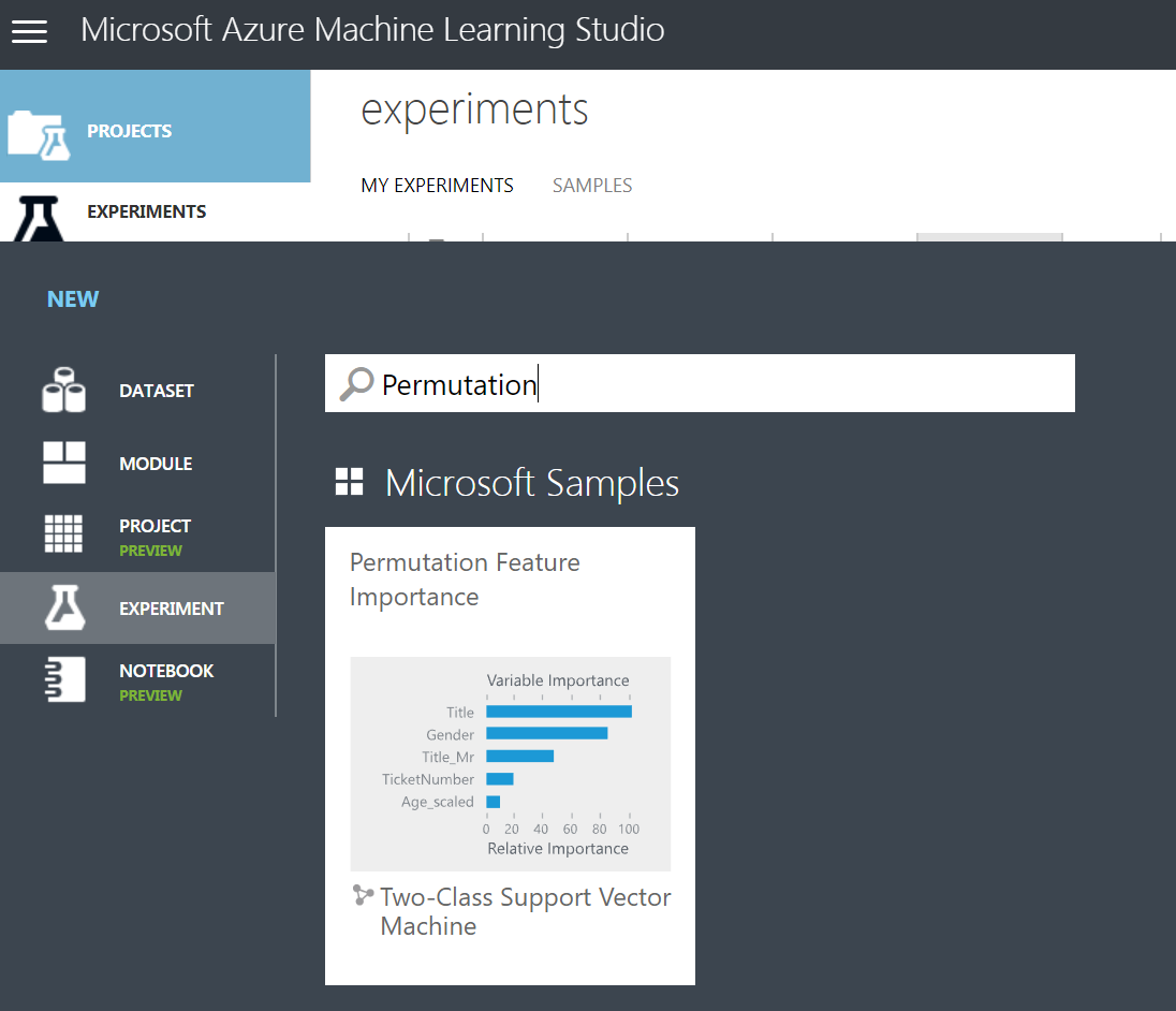 Exploring Feature Weights using R and Azure Machine Learning Studio