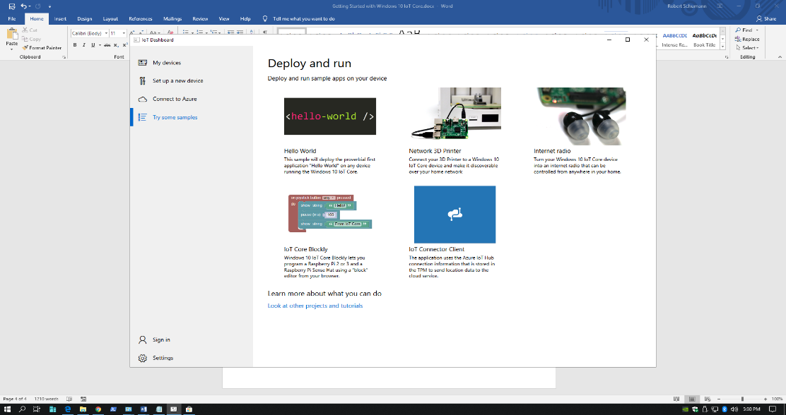 Getting Started with Windows 10 IoT Core & Raspberry Pi 3B+