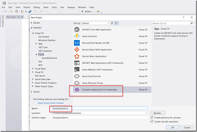 AKS Series– Using Azure Dev Spaces with Visual Studio Kubernetes Tooling