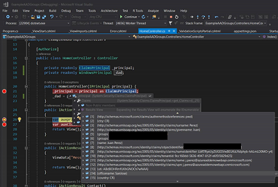 Adding User Optional and Mapped Claims in the Azure AD Authentication Token