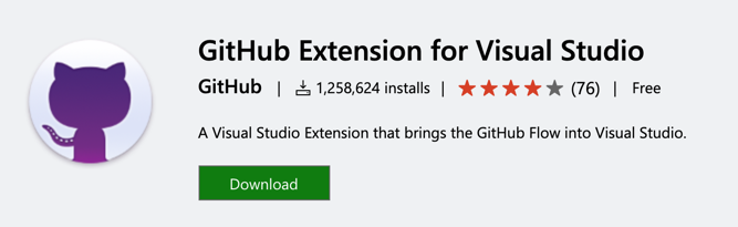 GitHub Visual Studio Extension