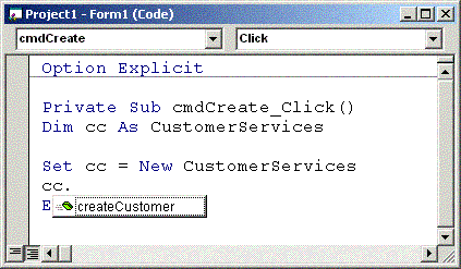 IntelliSense being used in Visual Basic 6.0