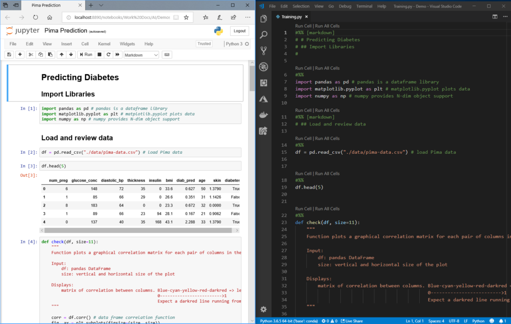 Data Science with Python in Visual Studio Code
