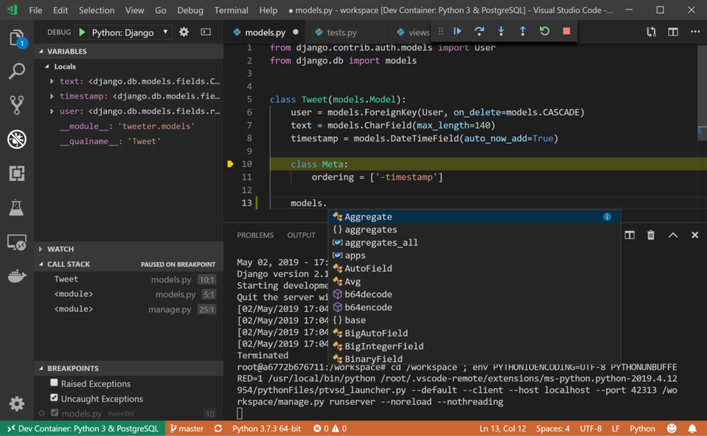 Remote Python Development in Visual Studio Code
