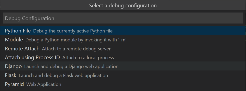 Debugger Configuration Options in Visual Studio Code