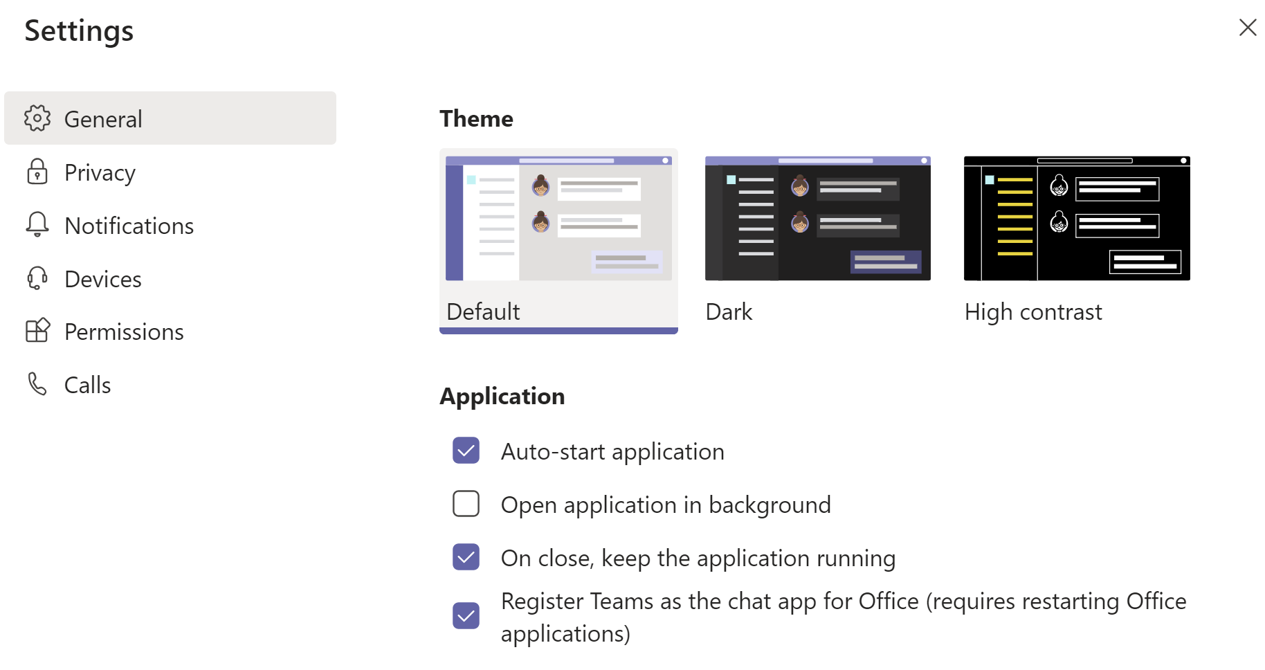 Configuring Startup Settings in Microsoft Teams with Windows