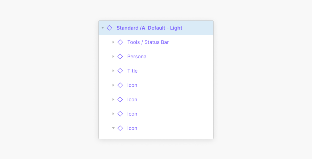 Light theme component properties
