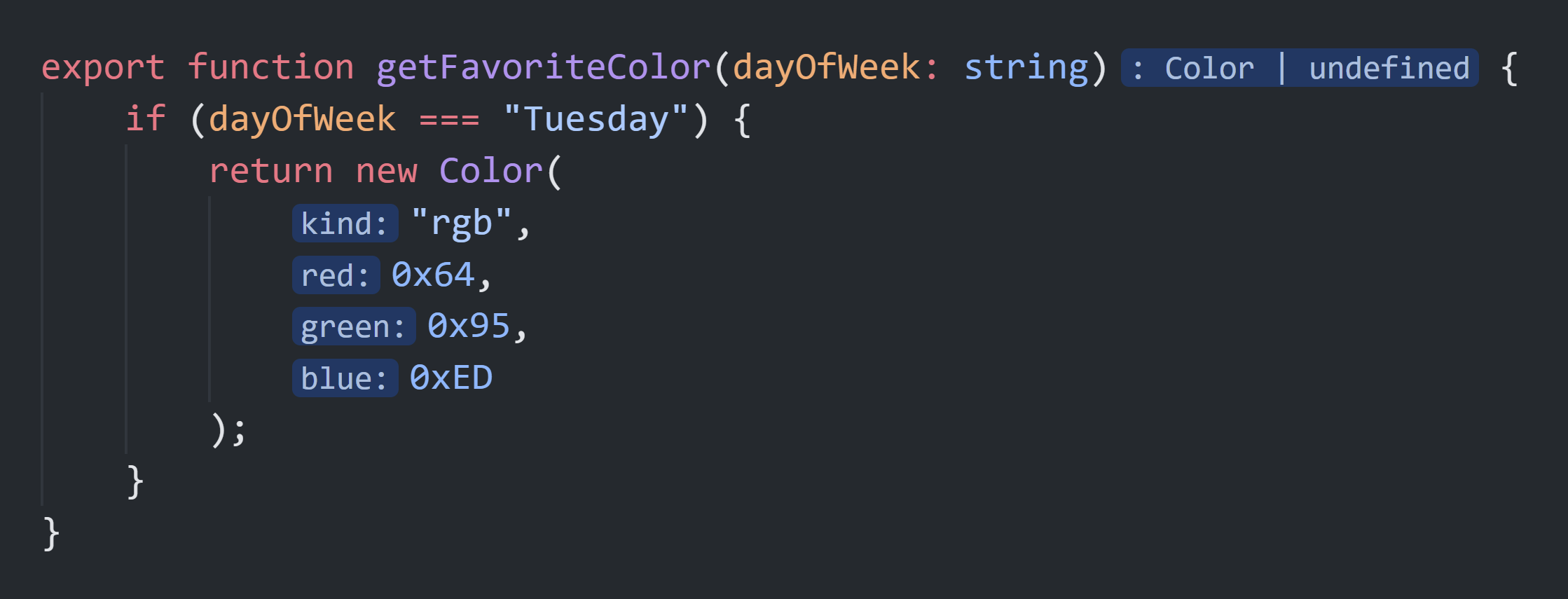 A preview of inlay hints in Visual Studio Code