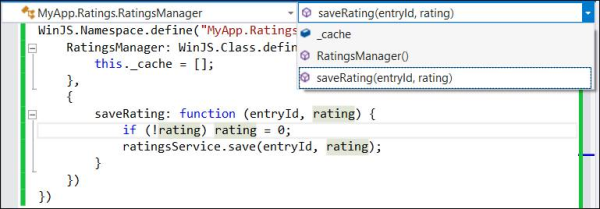New IDE features for JavaScript