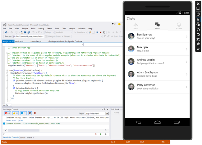 Building Mobile Apps with Ionic and Monaca | The Visual Studio Blog