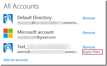 Directory Filtering for Accounts part of Azure Active Directories