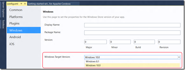 Targeting Windows 10 with your Apache Cordova app | The