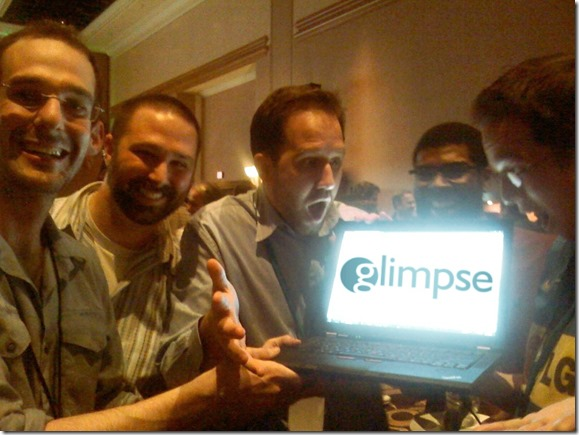 Anthony, Nik, Scott Hanselman, David Fowler & Phil Haack at the unveiling of Glimpse at Mix 11