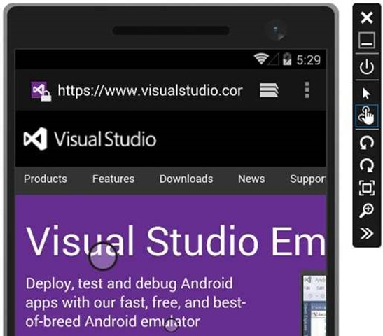 The Visual Studio Emulator for Android