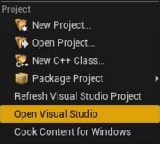Open Visual Studio menu command